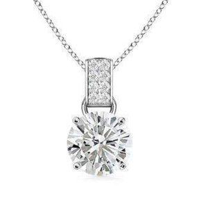 Jewelry - 1.65 Carats Round Solitaire Diamond Pendant White